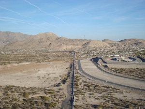 Border wall from Mexico Side, Near NM state line with Texas, by Dawn Paley